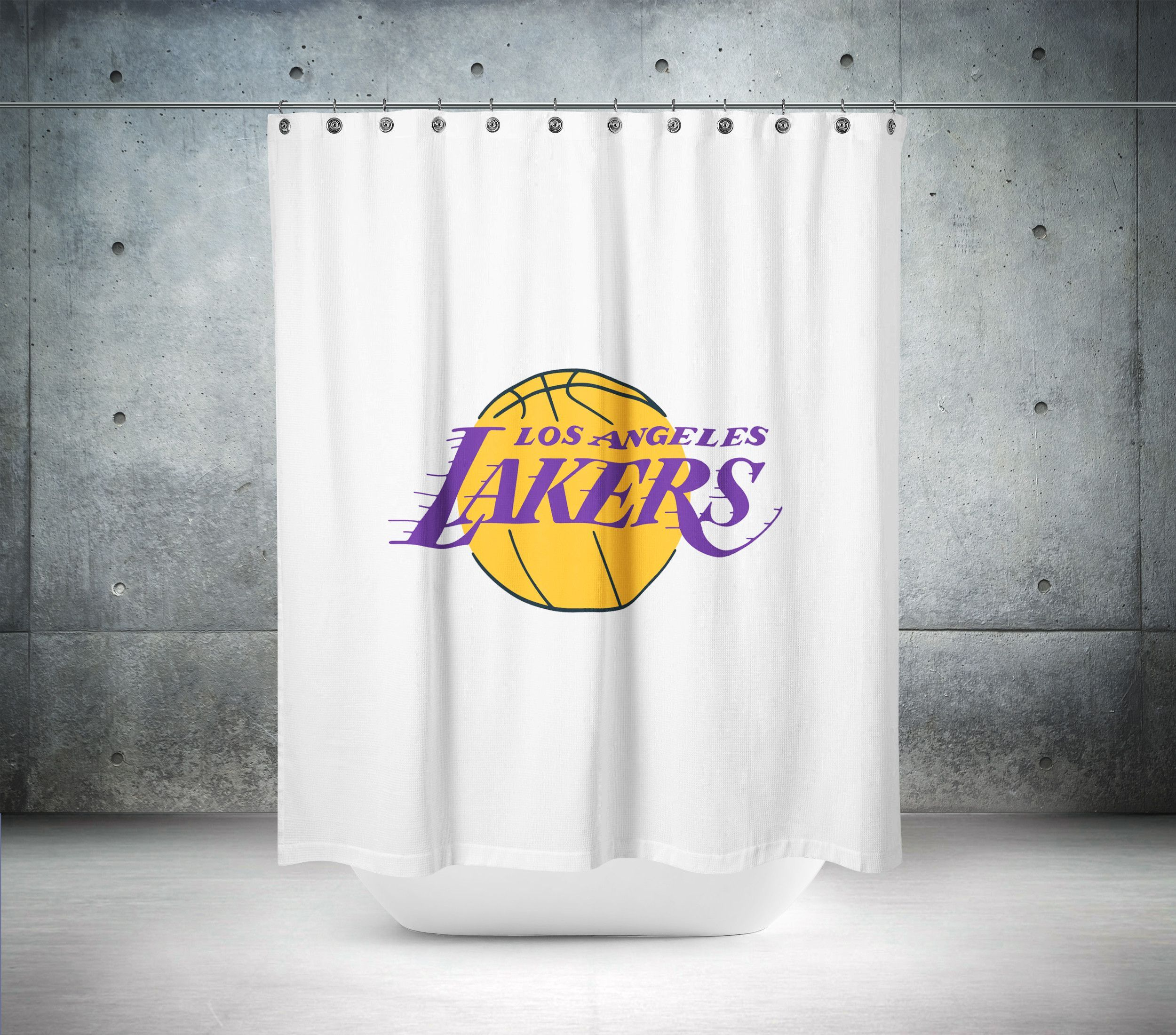 La Lakers Nba Shower Curtain Curtains Shower Curtain Printed
