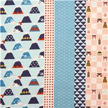 structured colorful Asia daruma mountain dot Kokka Dobby fabric