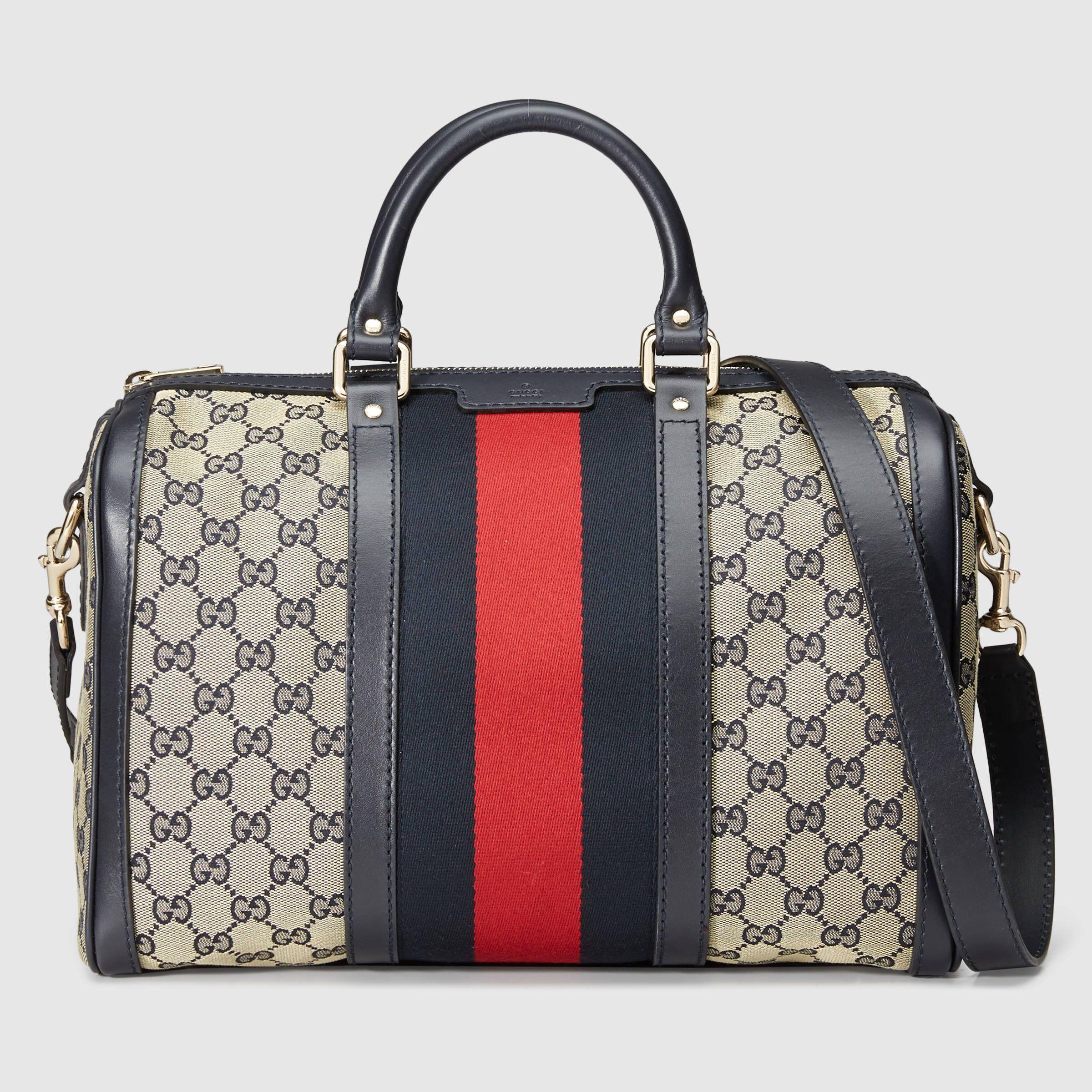 94803320b6b Gucci Vintage Web Original GG boston bag  1
