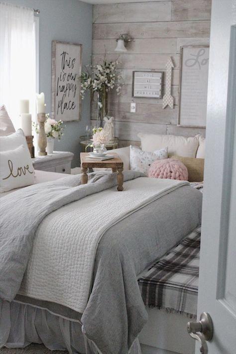 Small Romantic Master Bedroom Ideas: Spring Refresh In Master Bedroom #bedroomdecor
