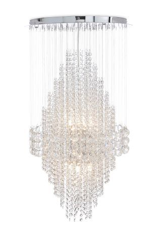 Buy illusion hand polished 6 light clear glass chandelier from the buy illusion hand polished 6 light clear glass chandelier from the next uk online shop mozeypictures Gallery