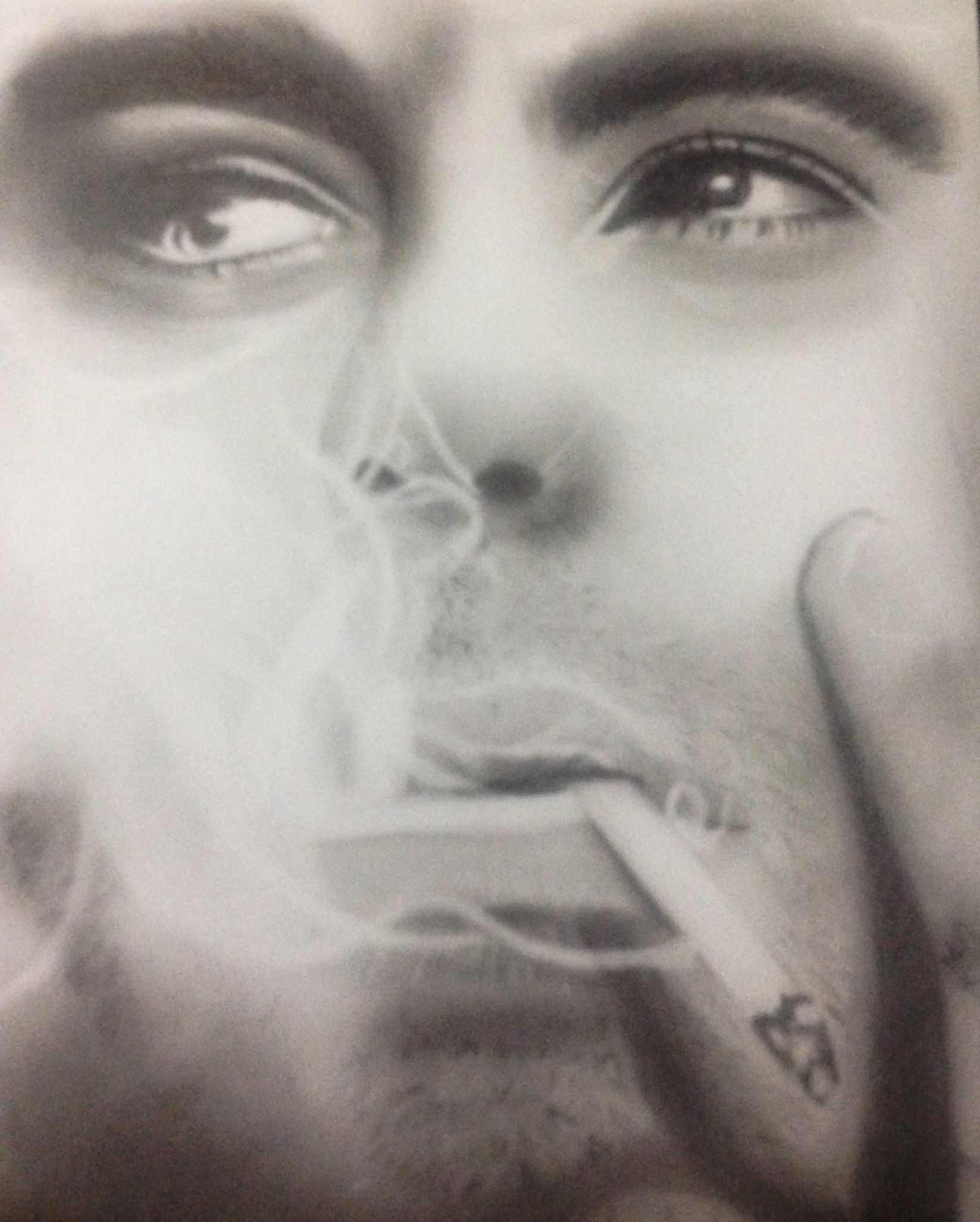 how to draw cigarette smoke with pencil