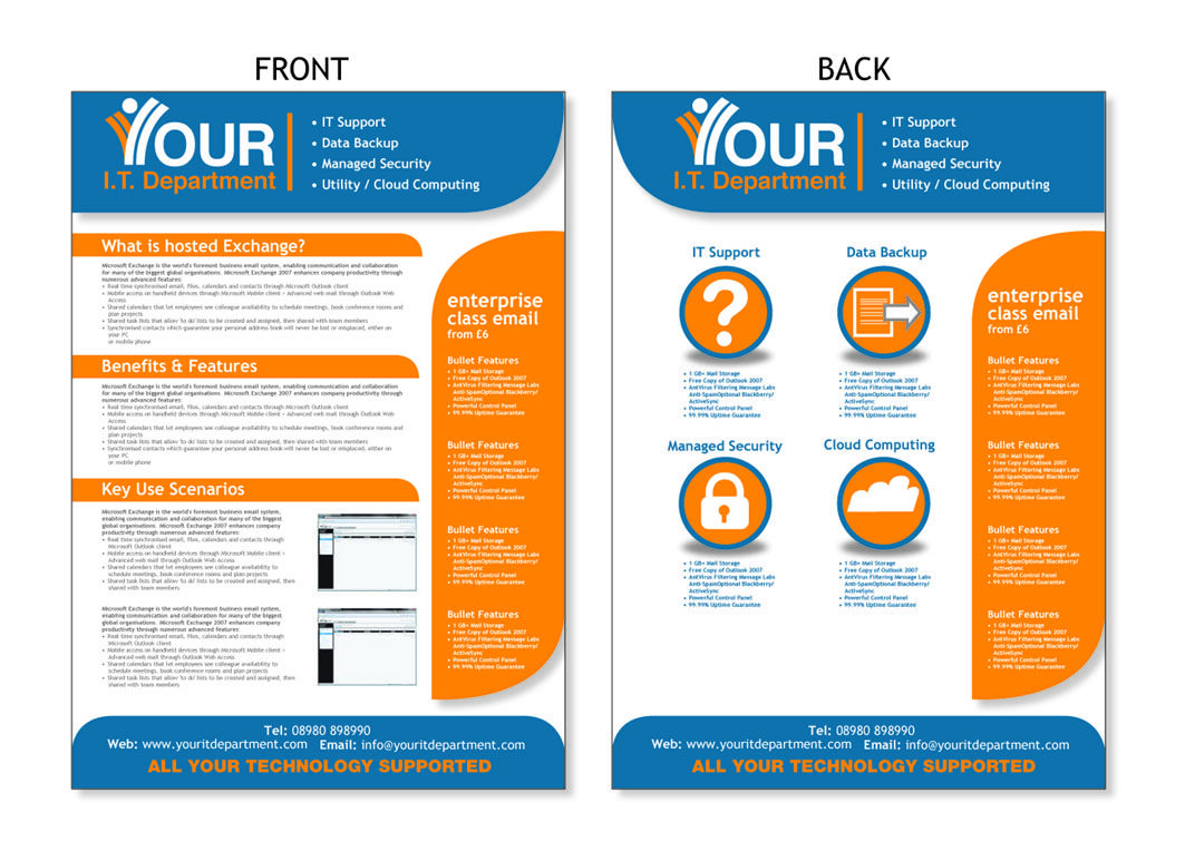 Designing an effective and better brochure charms for It services brochure template