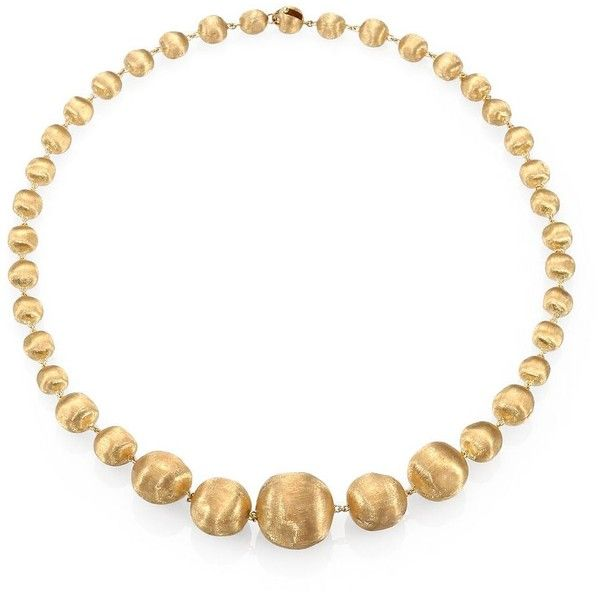 Marco Bicego 18K Yellow Gold Graduated Ball Necklace