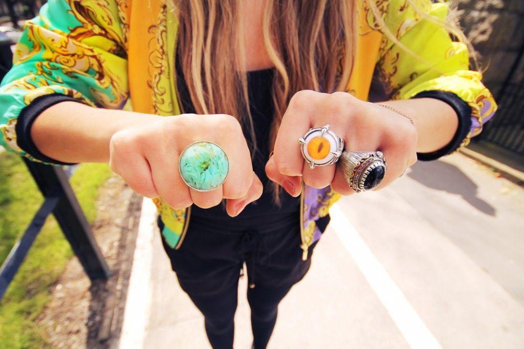 Turquoise circle ring <3