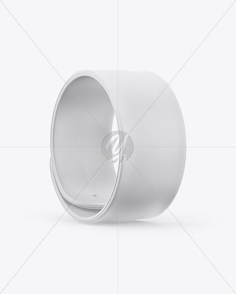 Rubber Slap Bracelet Mockup - Half Side View
