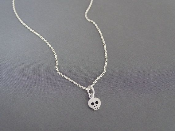Skull Necklace Minimalist Tiny Fashion Jewelry Cute Gift Ideas For