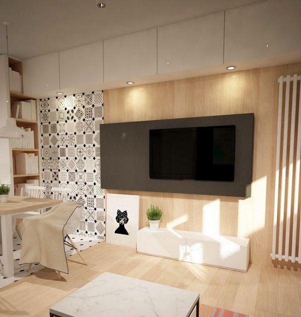 Décoration murale télévision panneau mural en bois de l\'imitation de ...