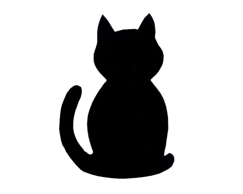 Free printable cat kitten patterns image for Black cat templates for halloween