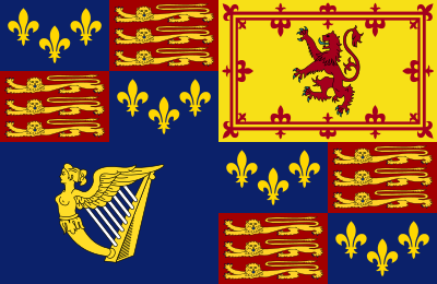 Royal Standard Of Great Britain 1603 1649 Svg Historical Flags House Of Stuart Flag