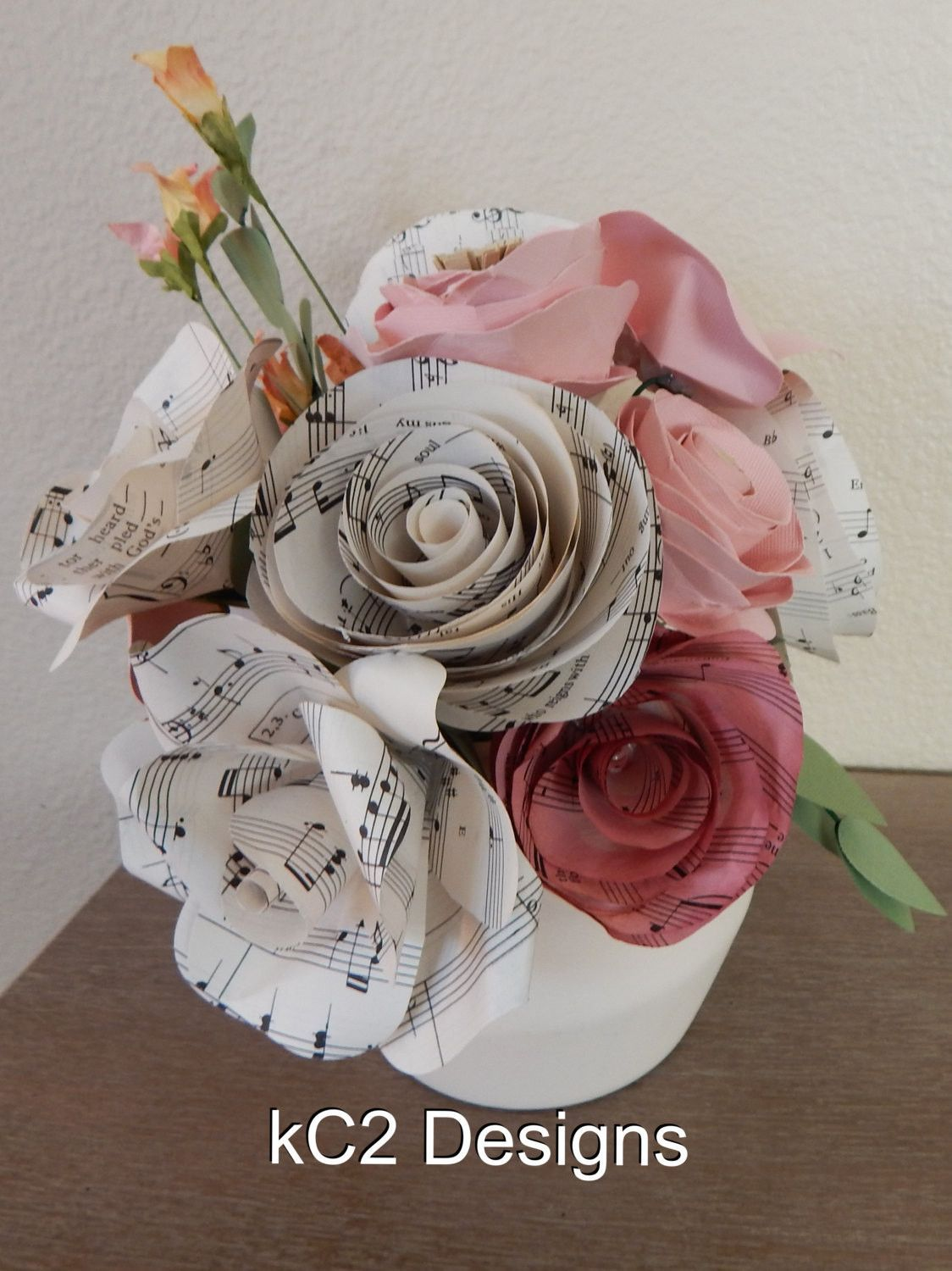 Paper Flowers Centerpieces Table Numbers Valentines Day Mothers Day