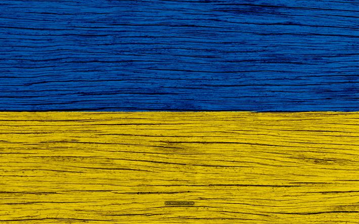 Download Wallpapers Flag Of Ukraine 4k Europe Wooden Texture