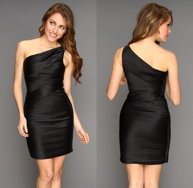 One Shoulder Short Club Dresses