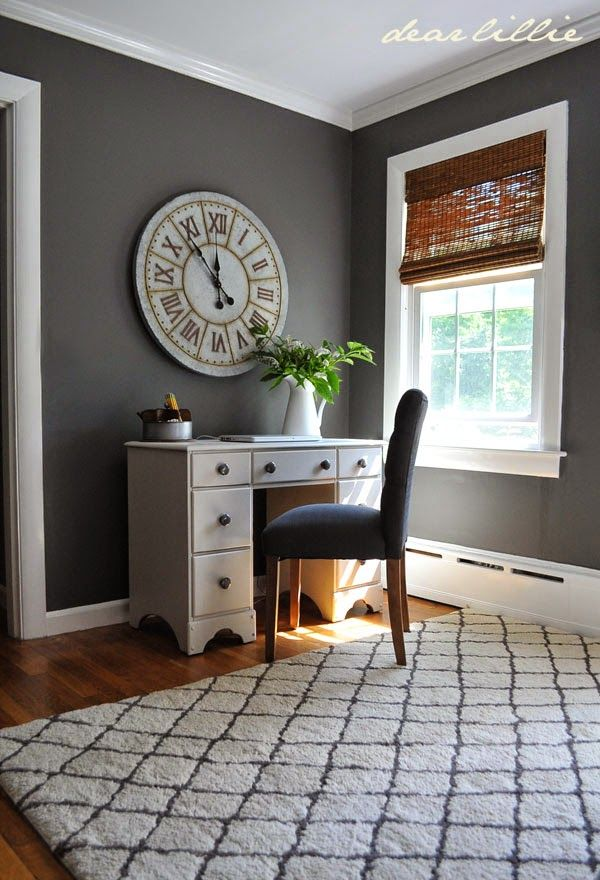 enchanting home office wall colors blue | Jason's Home Office / Guest Room Model | decorate | Home ...