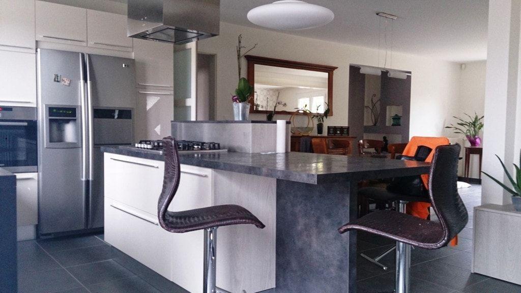 S\u0027offrir une cuisine contemporaine, avec un îlot central, quoi de - Cuisine Contemporaine Avec Ilot