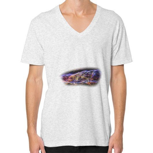 NASA Images V-Neck Unisex T-Shirt Veil Nebula