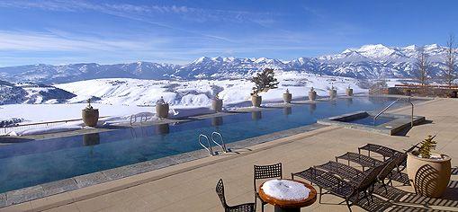 Luxury Skiing Hotel Jackson Hole Wyoming Yellowstone Resort Aman Resorts Winter