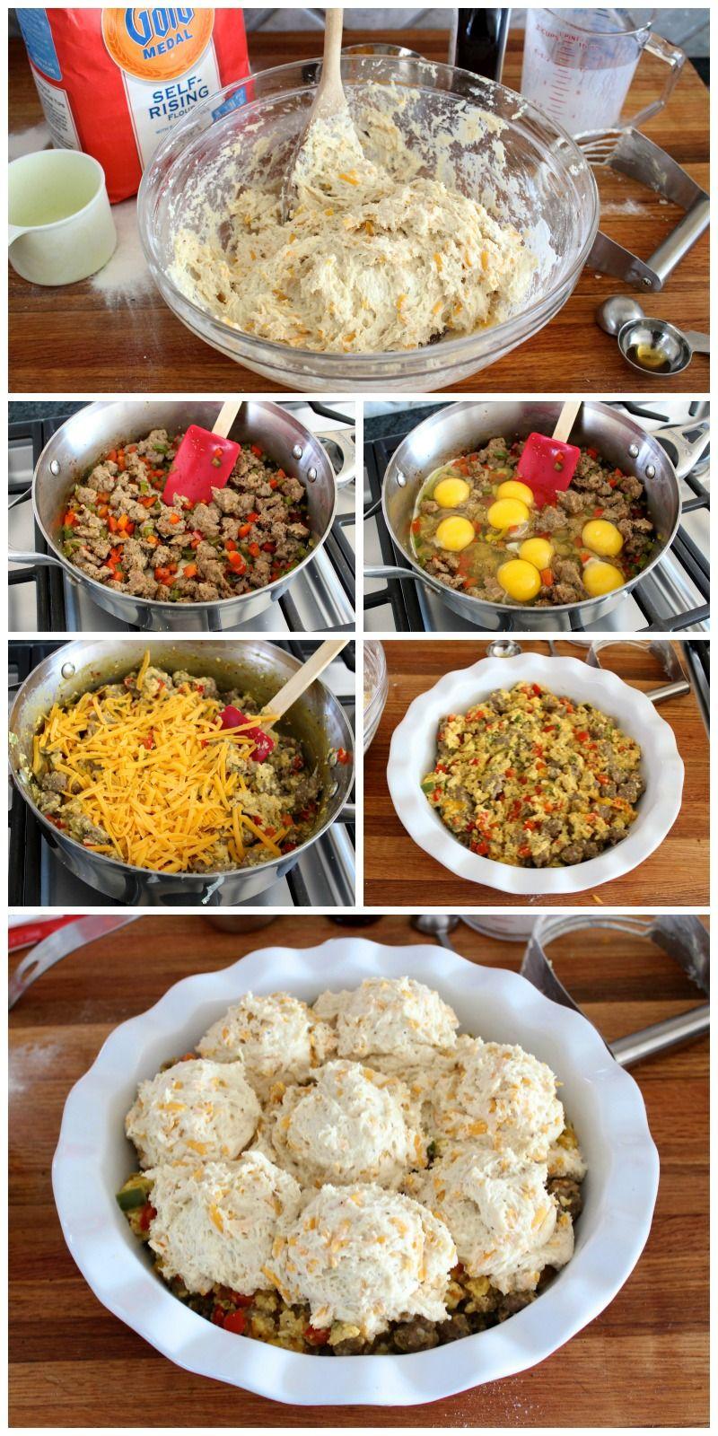 Breakfast Biscuit Pot Pie Breakfast biscuits, Biscuit