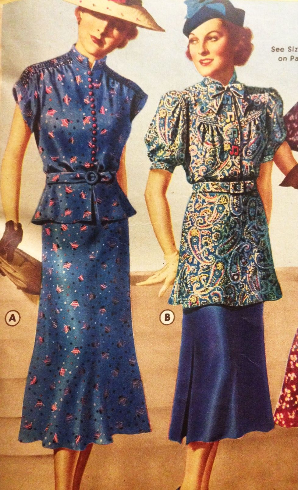 Women S 1940s Pants Styles History And Buying Guide: 1930s Day Dresses, Afternoon Dresses History