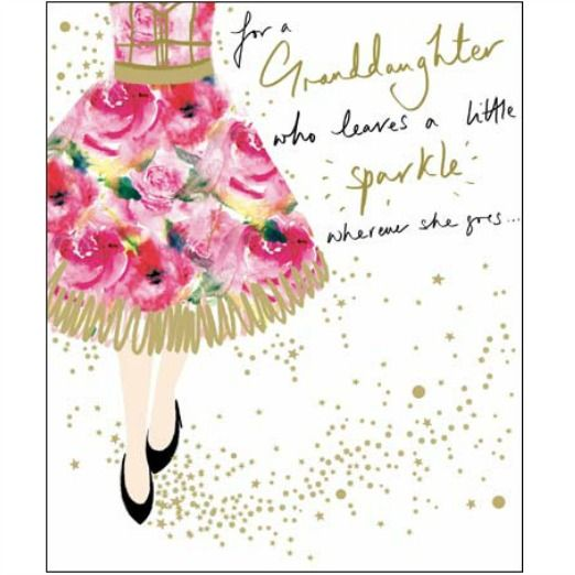Woodmansterne Granddaughter Birthday card 387814 – Free Family Birthday Cards