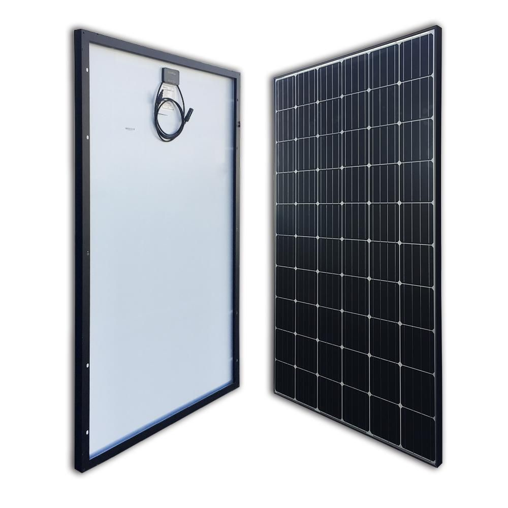 Renogy 300 Watt 24 Volt Monocrystalline Solar Panel For Residential Commercial Rooftop Back Up System Off Grid Application Rng 300d The Home Depot Monocrystalline Solar Panels Solar Panel Installation Best Solar Panels