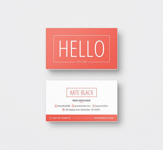 spark business card design kit instant download psd - Spark Business Card
