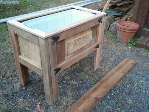 Patio / Deck Cooler Stand - by MoreWoodPlease ...