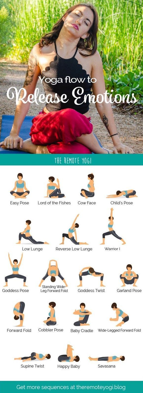 to Release Emotions - Printable Yoga PDF Do you ever feel numb and like you have completely blocked out your emotions? Chances are, you've learned coping mechanisms to quiet your emotions when you need to be in control. Problem is, when we practice this too often, we start to numb out. Today's yoga practice is to help you open and release emot