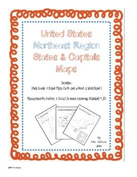 FREE US Northeast Region States & Capitals Maps | Social Studies ...