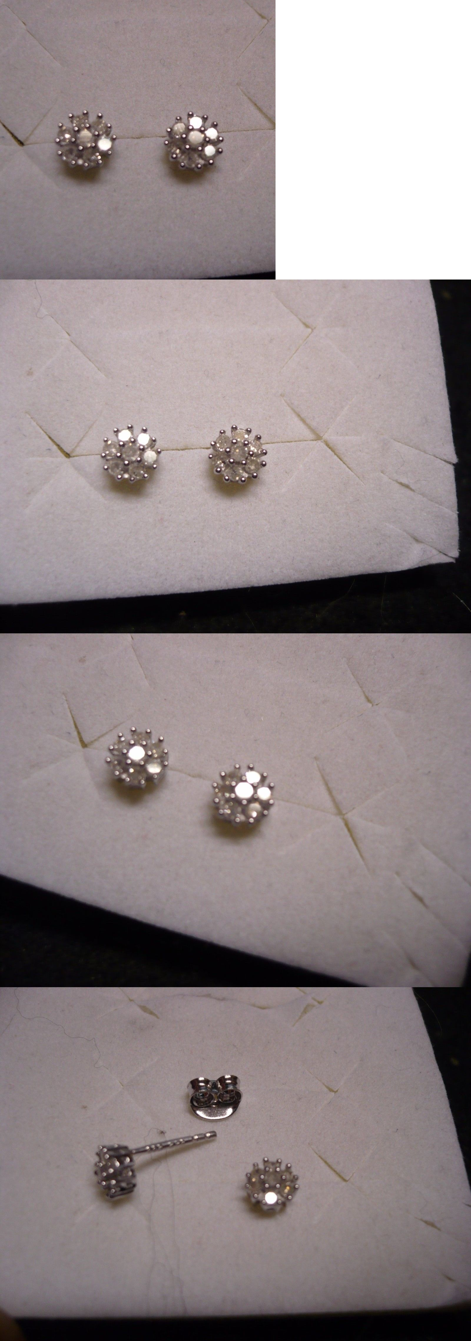 Diamond Gsi Certified Diamond Stud Earrings 14 Diamonds