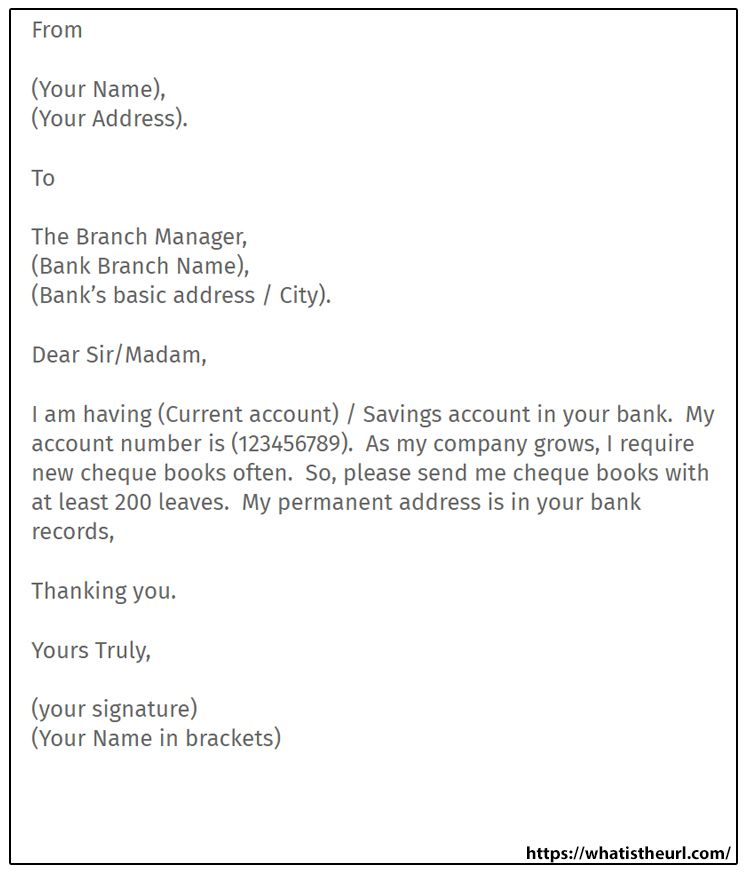 Requesting To Issue New Cheque Book Checkbook Letter Writing Samples Lettering