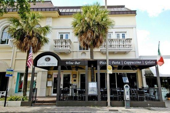 Caffe Europa Italian Restaurant On Las Olas Blvd In Fort