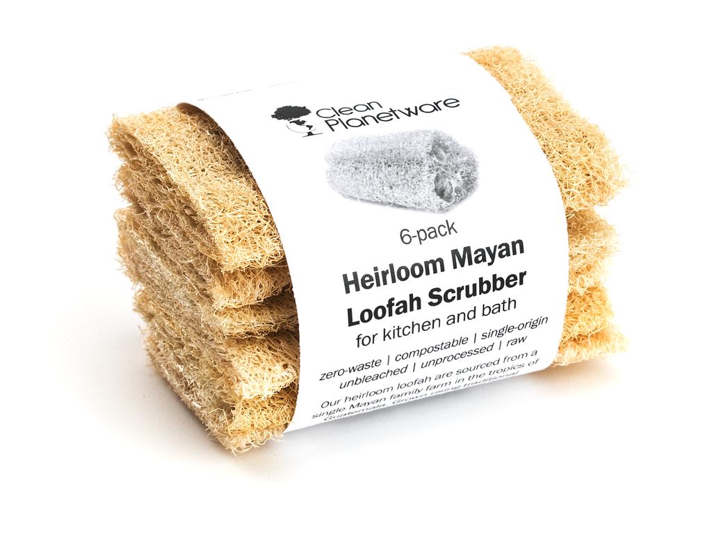 Heirloom Mayan Loofah Scubbers 6 Pack Loofah