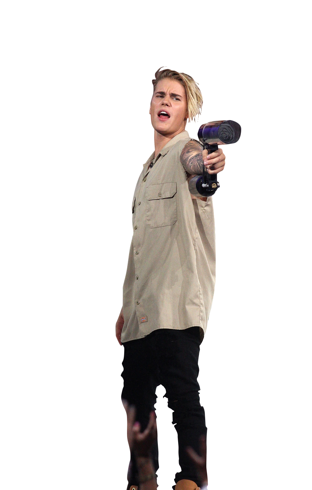 Justin Bieber Holding Gas Canone Png Image Justin Bieber I Love Justin Bieber Justin