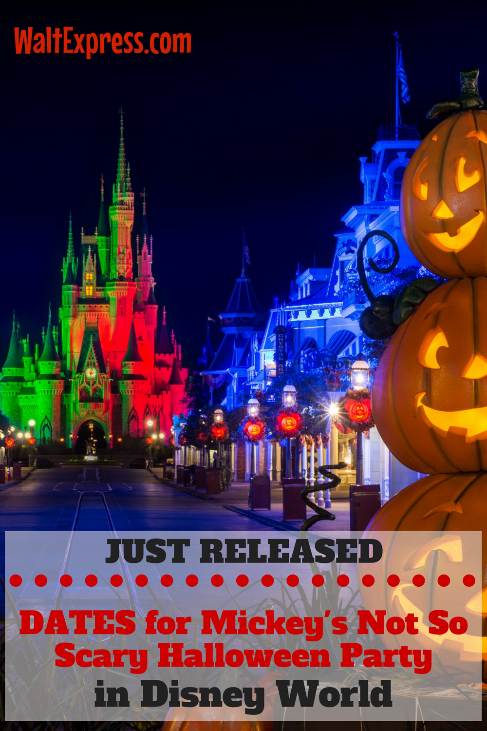 Disney Releases 2017 Dates for Mickey's Not So Scary Halloween ...