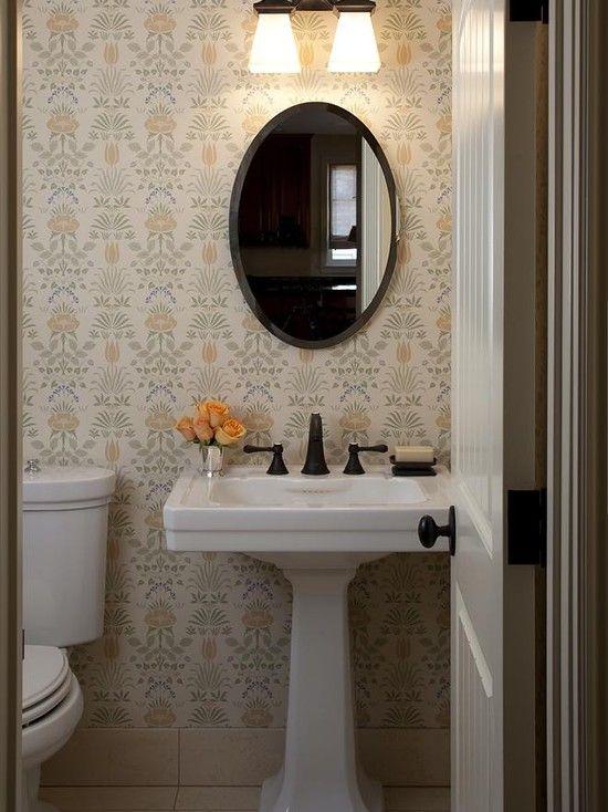 Traditional Half Baths Design Ideas Pictures Remodel And Decor Powder Room Small Half Bathroom Remodel Half Bathroom