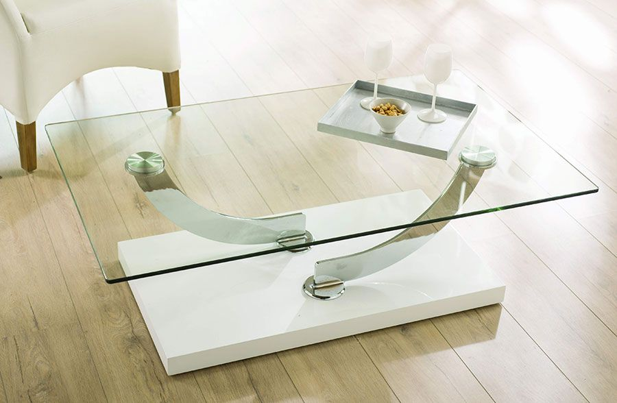 table basse rectangulaire design malo avec plateau en verre table basse design hcommehome - Table Plateau En Verre