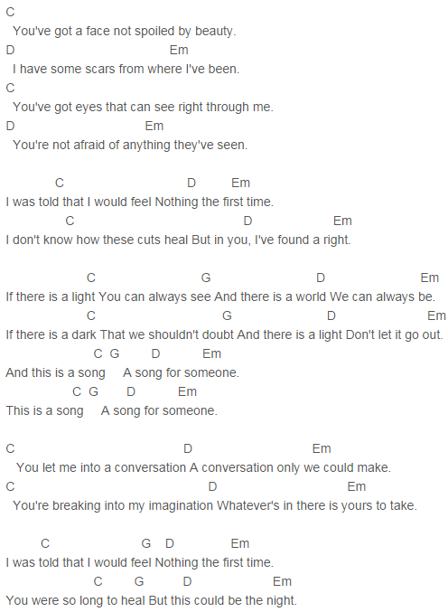 U2 - Song for Someone Chords Capo 4 | Quotes | Pinterest | U2 songs ...