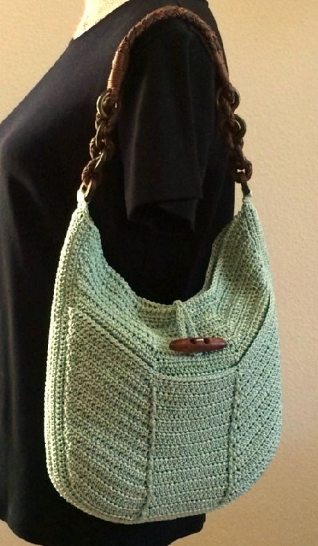 Hanna Bag Pattern - Creative Yarn Source   Bags   Pinterest   Bolsos ...