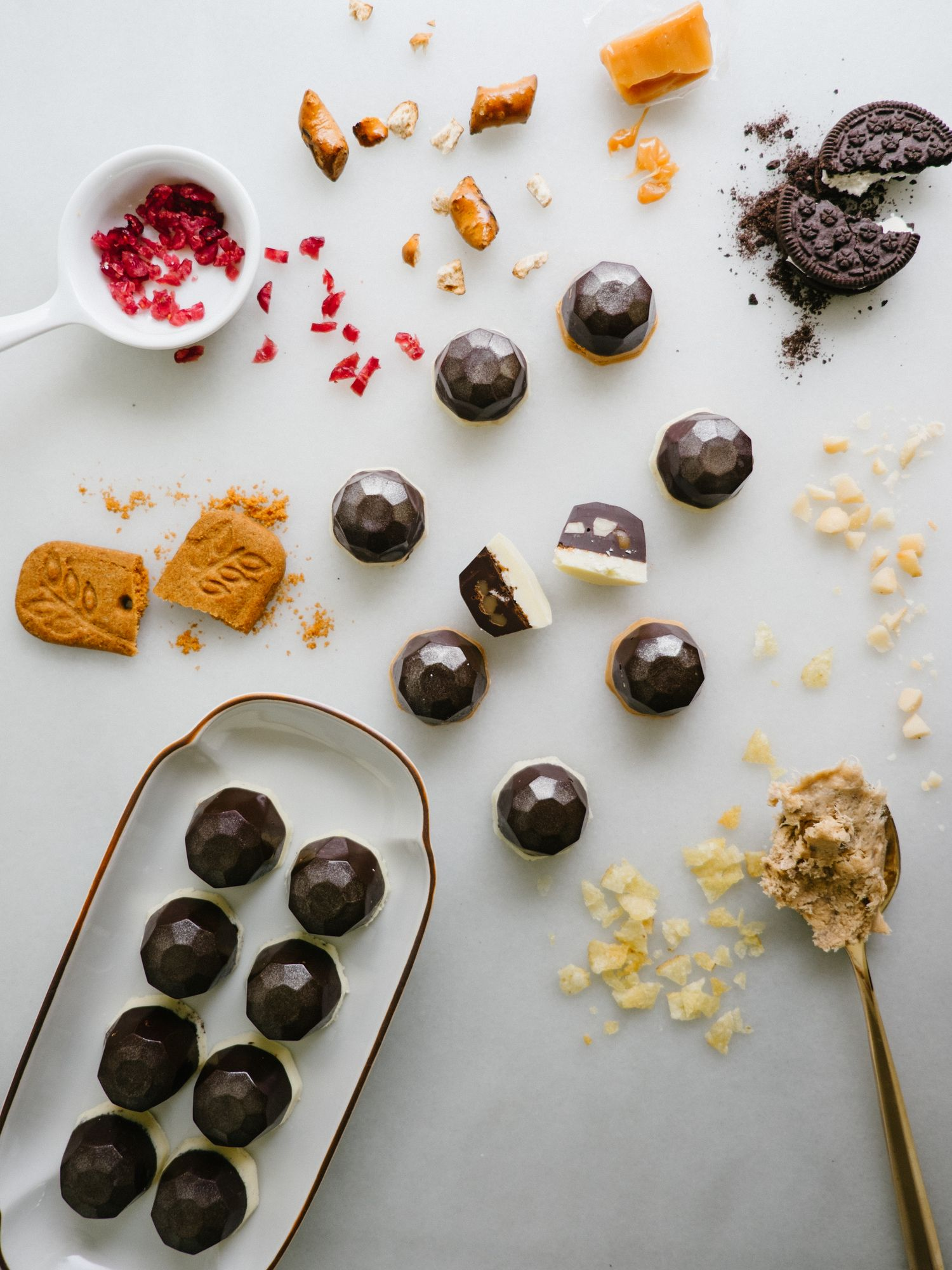 Kitchen Sink Chocolate Gems | Speculoos cookie butter, Kettle chips ...