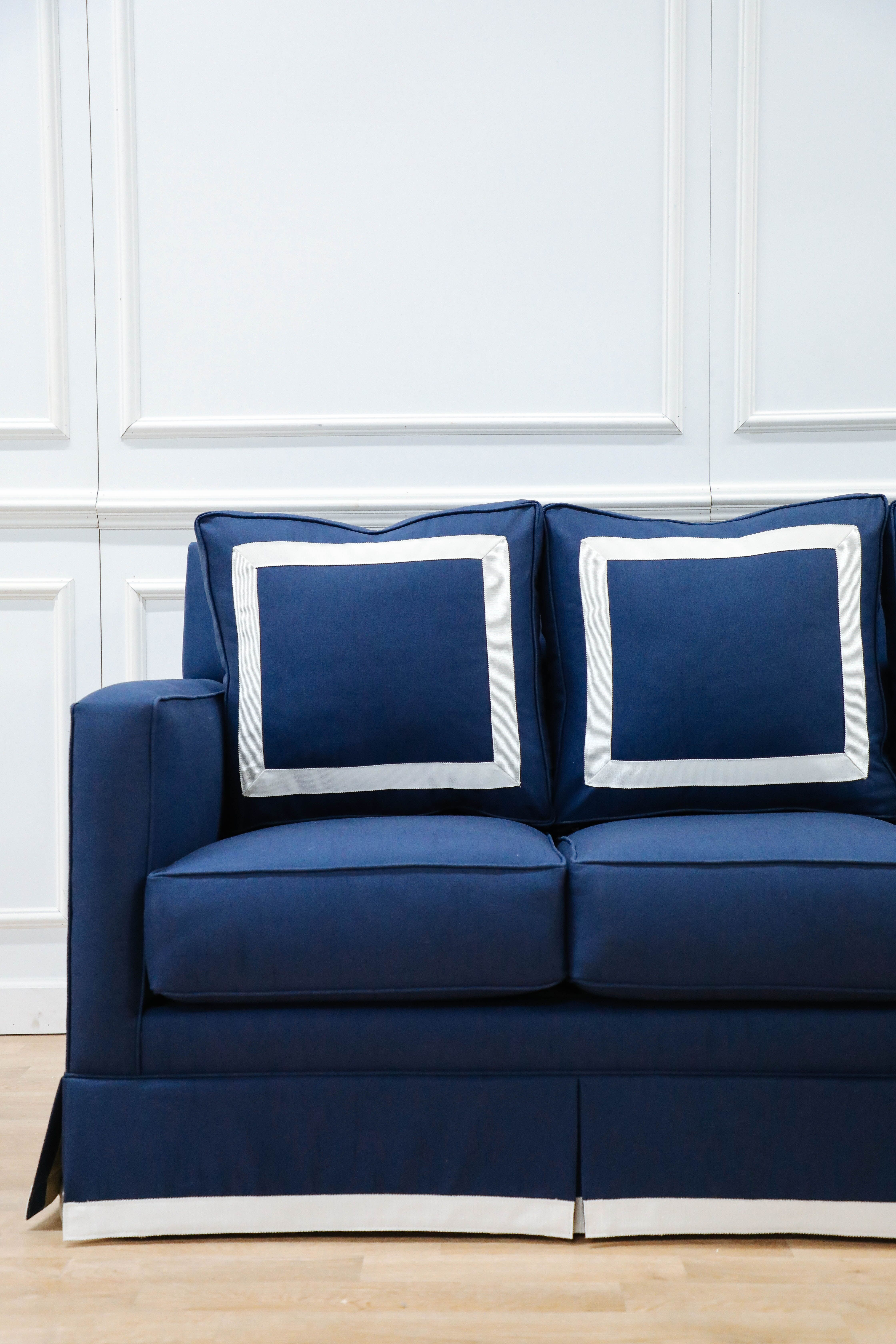The Beverly Sofa Sofa White Sofas Blue White