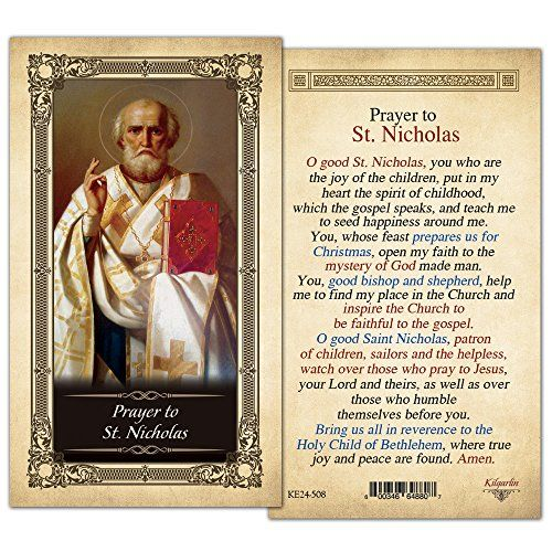 St. Nicholas Holy Card - Pack of 25- Laminated ShopCatholic https://www.amazon.com/dp/B0190BC1VA/ref=cm_sw_r_pi_dp_x_0YteybEZNQ3J4