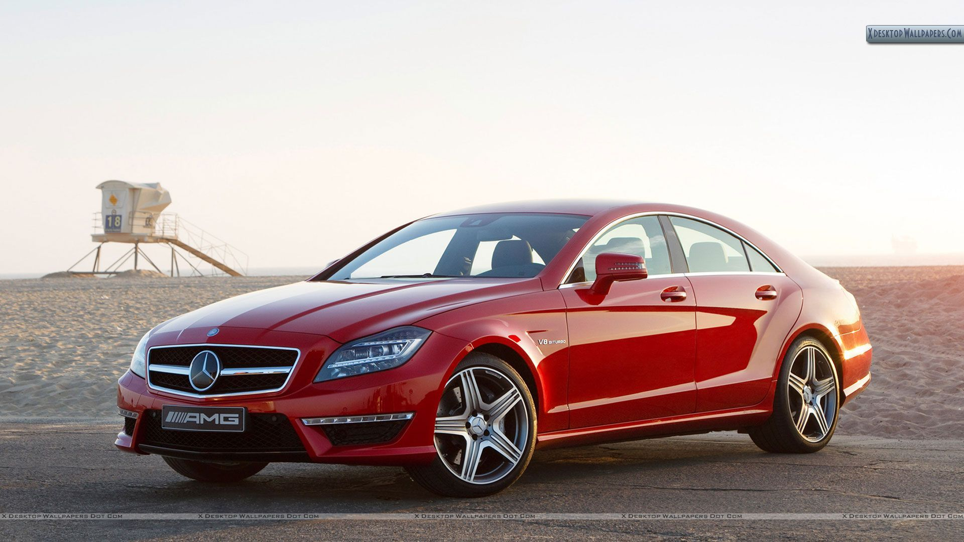 Image Detail For 2012 Mercedes Benz Cls63 Amg Red Color Wallpaper