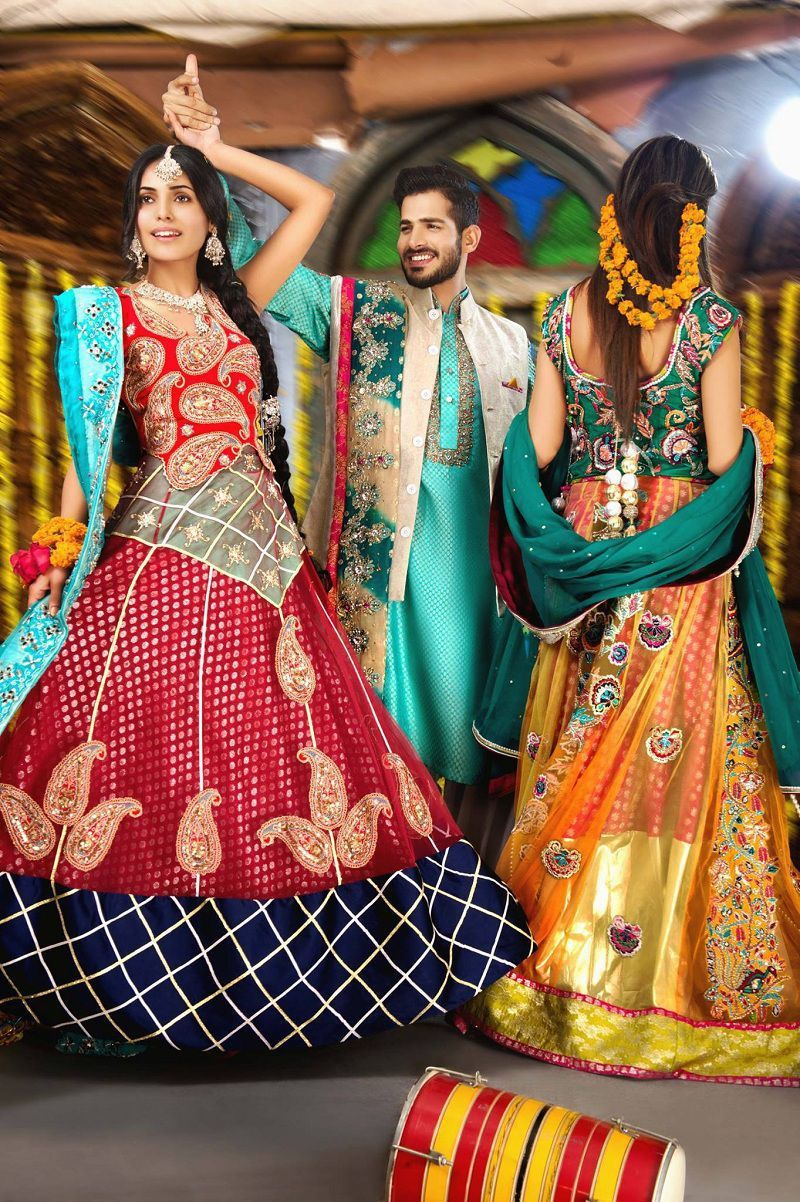 Amna ajmal mehndi dresses for cute wedding girls stylostreet