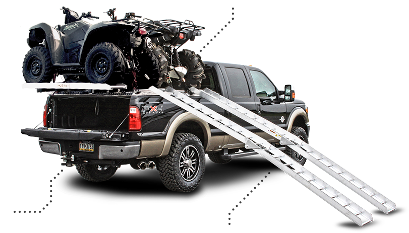 Atv Truck Ramps >> Side Loading Atv Carrier Package On Ford Super Duty Truck Atv