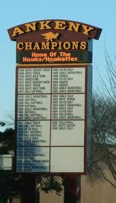 The Champions Board from the old high school (there are 2 now). Go Hawks!