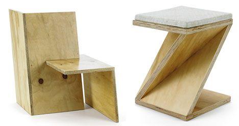 Slot Furniture Minimalism Plywood Slot Work