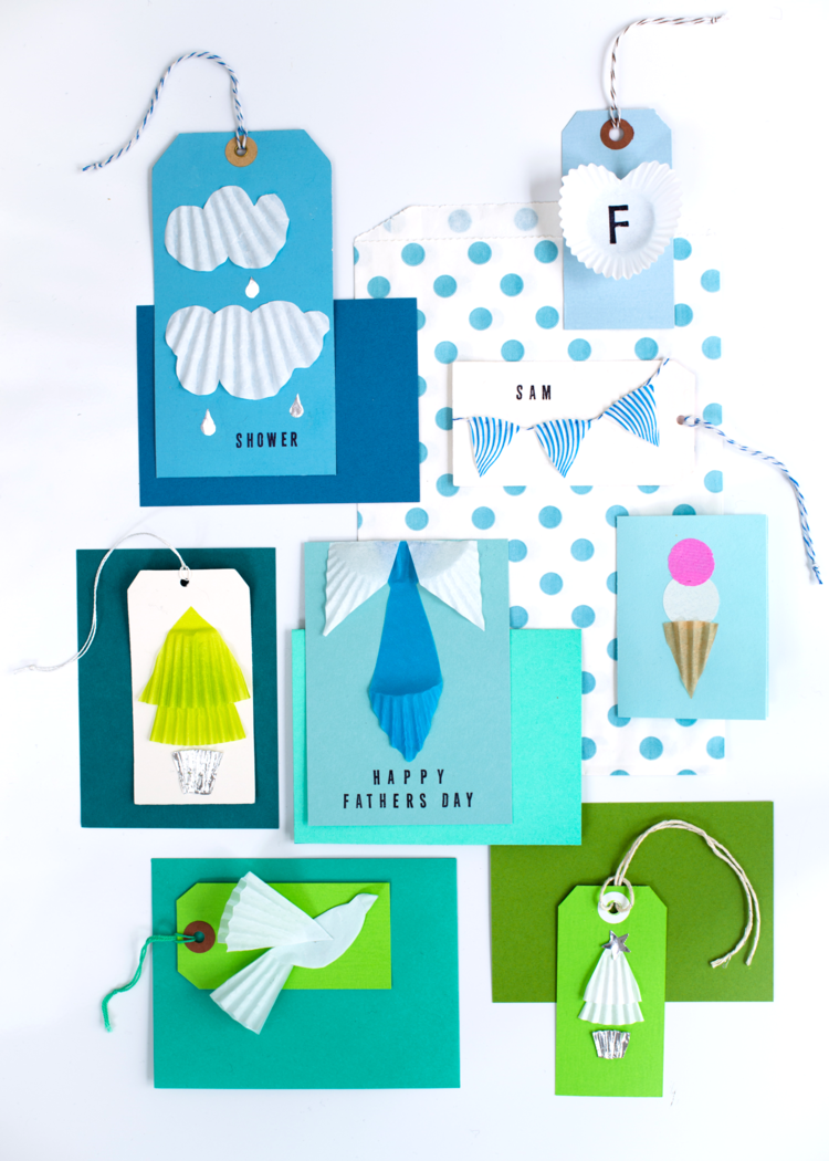 Quickest diy cards for fathers day and more cupcake papers cupcake paper cards super make it jeuxipadfo Gallery