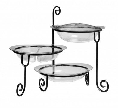 Three Unbreakable Serving Bowls With Lids 3 Tier Stand Serving Bowls With Lids Buffet Server Tiered Stand