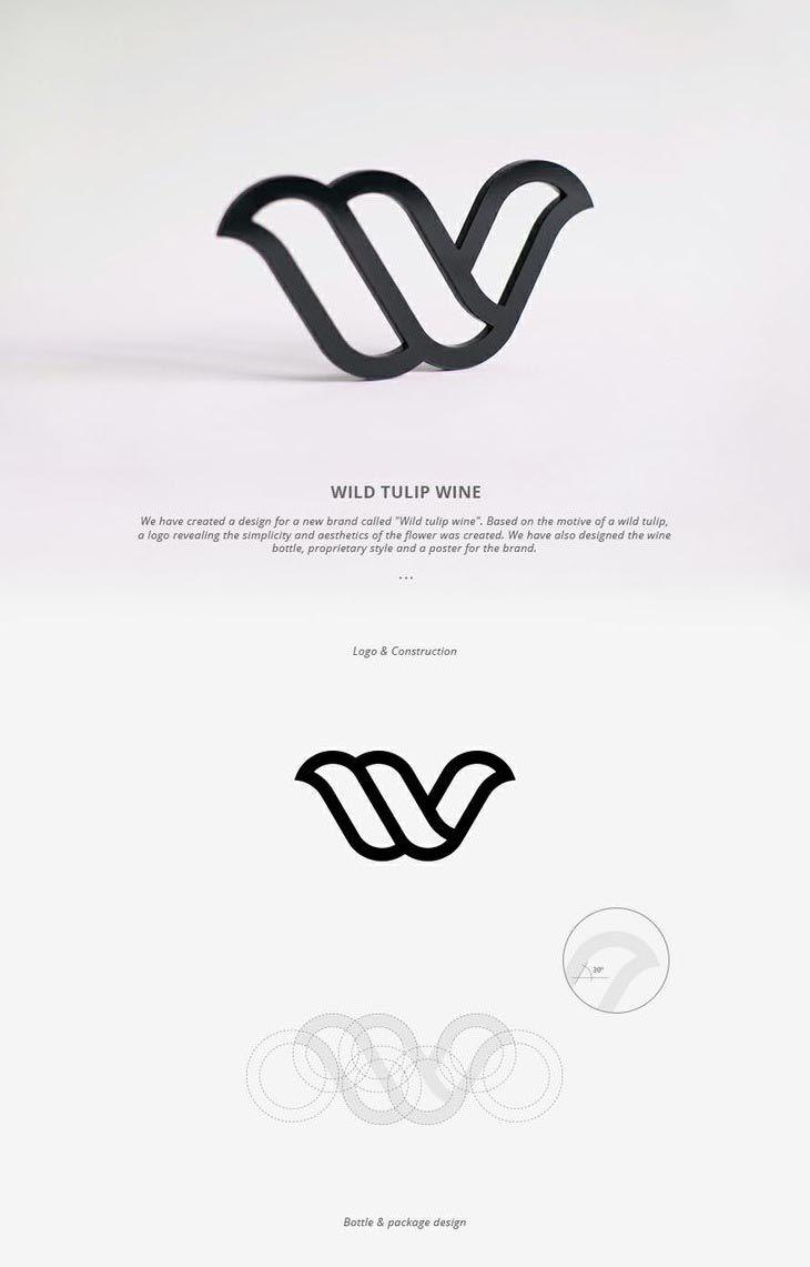 30 exemples de cr u00e9ation de logo avec les lignes de